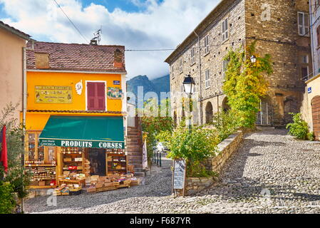 Corte Old Town, Corsica Island, France - Stock Photo