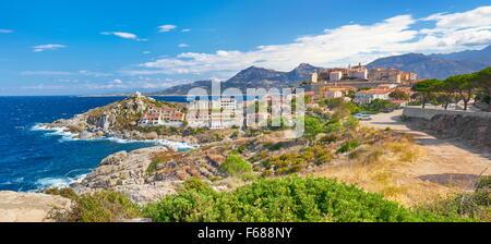 Piana Village, Les Calanches, Golfe de Porto, UNESCO, Corsica Island, France - Stock Photo