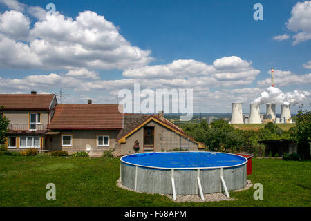 Coal power plant, Chvaletice, East Bohemia, Czech Republic - Stock Photo