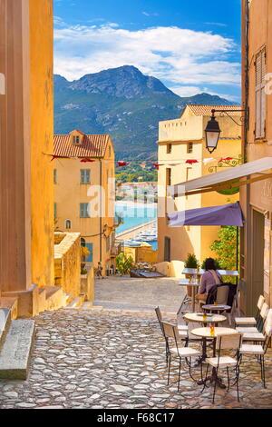 Corsica Island - Old Town Calvi, Balagne, West Coast, France - Stock Photo