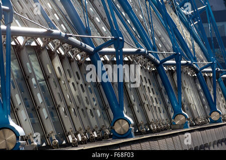 Roof structure of the former Eurostar terminus, Waterloo, London - Stock Photo