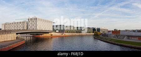 Modern Architecture Berlin modern architecture along river spree in berlin, germany stock