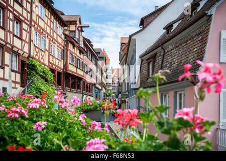 Altstadt (Old Town)  in Meersburg (Bodensee), Germany - Stock Photo