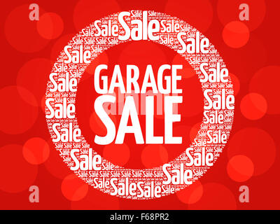 GARAGE SALE stamp words cloud, business concept background - Stock Photo
