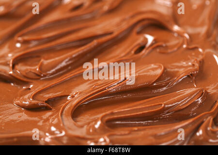 detail of melted chocolate spread backgrounds - Stock Photo