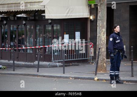 Paris Terrorist attacks, 13 November 2015, Friday, claimed by ISIS, 128 people killed, 300 injured. Seven individual - Stock Photo
