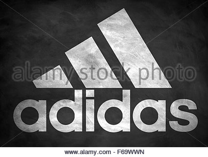 Adidas logo icon - Stock Photo