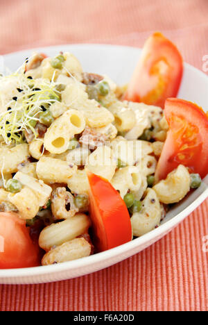 Vegan macaroni salad - Stock Photo