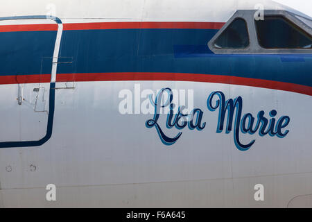 Elvis's private plane, The Lisa Marie, Graceland, Memphis, USA - Stock Photo