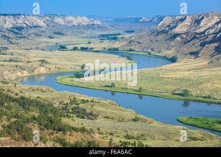 missouri river in the upper missouri river breaks national monument near winifred, montana - Stock Photo