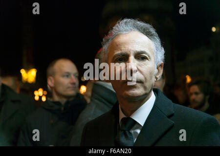 Copenhagen, Denmark. 15th November, 2015. French ambassador to Denmark, François Zimeray, participates in the Copenhagen - Stock Photo