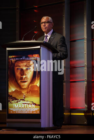 NASA Administrator Charles Bolden provides remarks before a discussion about NASA's journey to Mars and the film - Stock Photo