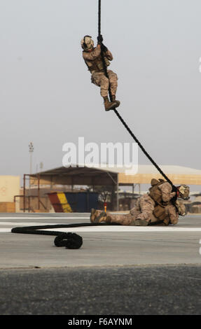 U.S. Marines with India Company, 3rd Battalion, 7th Marine Regiment, Special Purpose Marine Air-Ground Task Force—Crisis - Stock Photo
