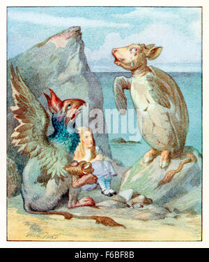 Alice dances the Lobster-Quadrille with the from Gryphon and a Mock Stock Photo: 89501917 - Alamy