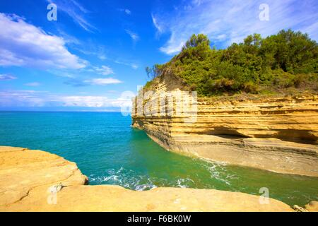 Sidari, Corfu, The Ionian Islands, Greek Islands, Greece, Europe - Stock Photo
