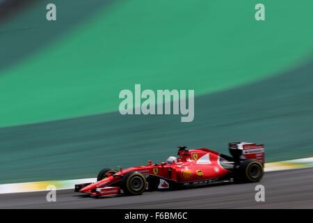 Brazil. 15th November, 2015. Motorsports: FIA Formula One World Championship 2015, Grand Prix of Brazil, #5 Sebastian - Stock Photo