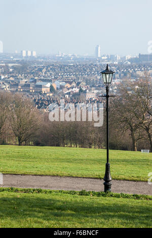 View of Crouch End and central London from Alexandra Palace, London, England - Stock Photo