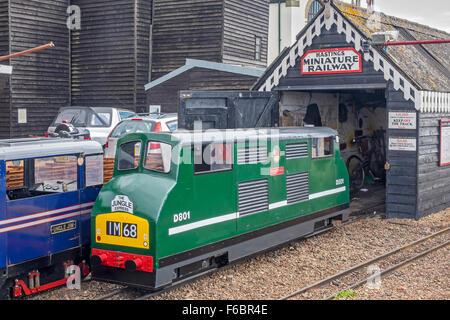 The Miniature Railway Hastings East Sussex UK - Stock Photo