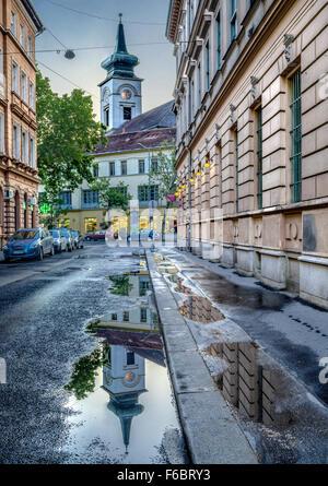 Calvinist church in Budapest, Hungary - Stock Photo