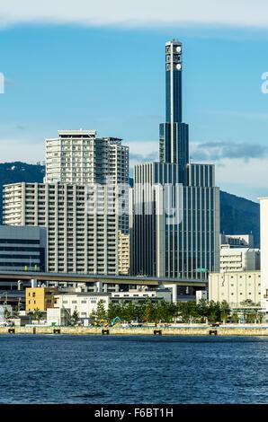 Skyline, Hatobacho, Kobe, Honshu, Japan - Stock Photo