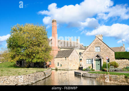 The Old Mill in Lower Slaughter, Cotswolds, Gloucestershire, England, UK - Stock Photo
