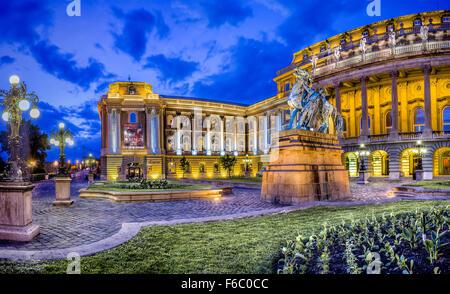 Royal Palace on Castle Hill, Budapest, Hungary - Stock Photo