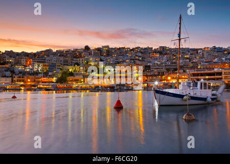 Boat anchored in Mikrolimano marina in Athens, Greece - Stock Photo