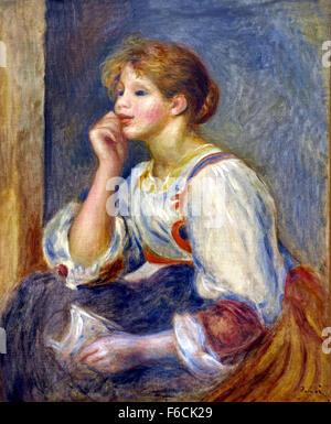 Femme à la lettre - Woman with letter 1890 Pierre Auguste Renoir 1841-1919 French France - Stock Photo