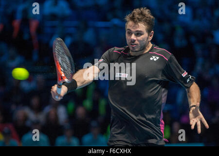 London, UK. 16th November, 2015. ATP Tennis Tour Finals. Day 2. Credit:  Action Plus Sports Images/Alamy Live News - Stock Photo