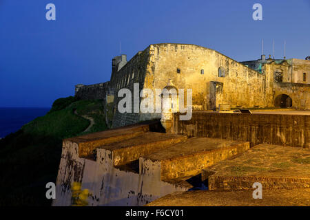 San Cristobal Castle, San Juan National Historic Site, Old San Juan, Puerto Rico - Stock Photo