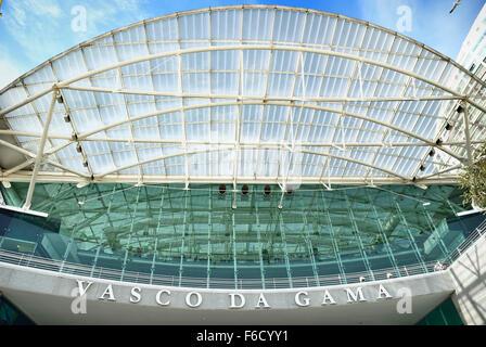 Vasco Da Gama shopping mall. Park of Nations - Parque das Nacoes - Lisbon. Portugal. Europe. - Stock Photo
