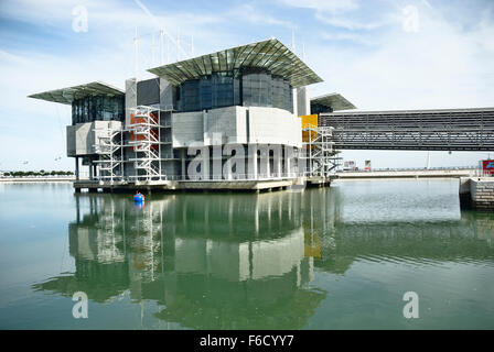The Lisbon Oceanarium located in the Parque das Nações, which was the exhibition grounds for the Expo '98. - Stock Photo
