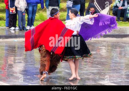 Ingapirca, Ecuador - 20 June 2015: Unidentified Young Couple Celebrating Inti Raymi, Festival Of The Sun  In Ingapirca - Stock Photo