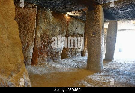 The Dolmen of Menga. Antequera. Malaga. Spain - Stock Photo