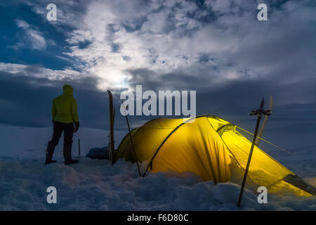 Tenting out in the Northern Wilderness - Stock Photo