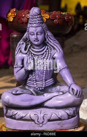 Idol of lord shiva kept for sale, surajkund mela, faridabad, haryana, india, asia - Stock Photo