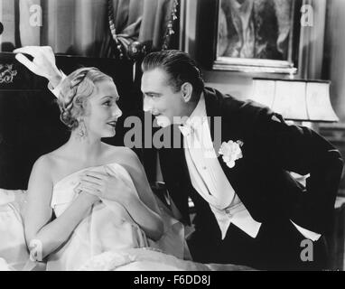 RELEASE DATE: March 5, 1932. MOVIE TITLE: Arsene Lupin. STUDIO: Metro-Goldwyn-Mayer (MGM). PLOT: A charming and - Stock Photo