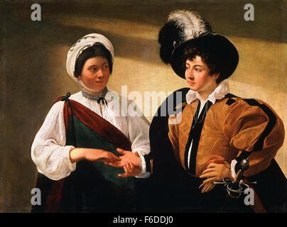 Michelangelo Merisi da Caravaggio - The Fortune Teller - Stock Photo