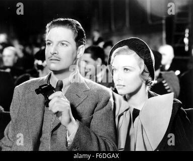 RELEASE DATE: August 1, 1935. MOVIE TITLE: The 39 Steps. STUDIO: Gaumont British Picture Corporation. PLOT: Richard - Stock Photo