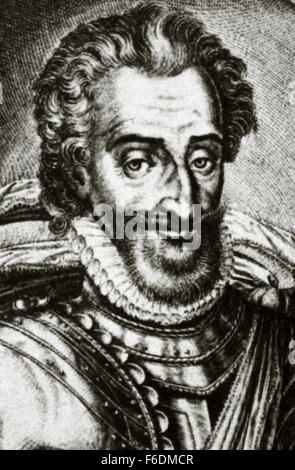 Henry IV of France (1553-1610). King of Navarre as Henry III from 1572-1610 and King of France from 1589-1610. Portrait. - Stock Photo