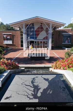 Visitor Center, Colonial Williamsburg, Virginia, USA - Stock Photo