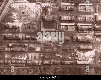 "720. Germany, Bremen ""Focke Wulf aircraft Works.""Reconnaissance image from RAF post bombing attack of 13.9.1942 - Stock Photo"