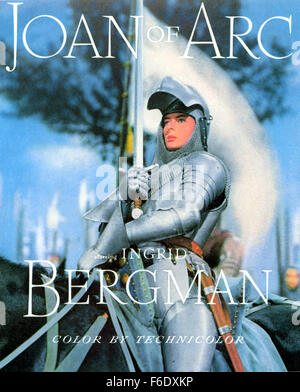 RELEASE DATE: December 22, 1948. MOVIE TITLE: Joan of Arc. STUDIO: Sierra Pictures (II). PLOT: In the Fifteenth - Stock Photo