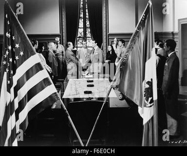 RELEASE DATE: October 28, 1949. MOVIE TITLE: Border Incident. STUDIO: Metro-Goldwyn-Mayer (MGM). PLOT: o penetrate - Stock Photo