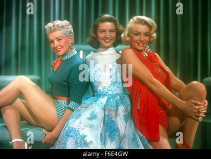 Nov 05, 1953; Los Angeles, CA, USA; Actor MARILYN MONROE stars in ''How To Marry A Millionaire.' Brunette turned - Stock Photo
