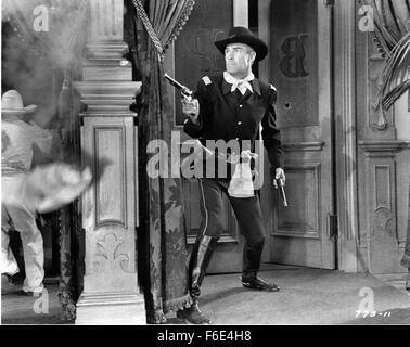 RELEASE DATE: January 31, 1953. MOVIE TITLE: The Man Behind the Gun. STUDIO: Warner Bros. Pictures. PLOT: Posing - Stock Photo