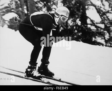 Jan. 1, 1960 - Robert Redford, On-Set of the Film, Downhill Racer, 1969 (Credit Image: c Glasshouse/Entertainment - Stock Photo