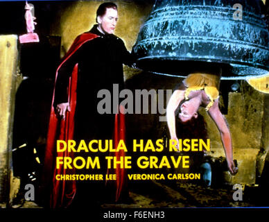 Jun 09, 1968; Hollywood, CA, USA; VERONICA CARLSON and CHRISTOPHER LEE star as Maria Mulle and Dracula in the romantic - Stock Photo