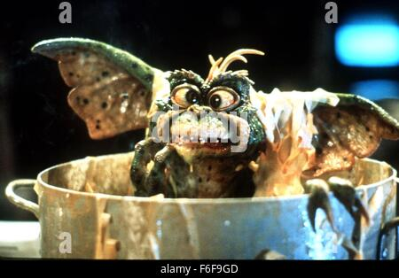 Feb 26, 1984; Hollywood, CA, USA; Scene from the comedy, fantasy, horror, action film ''Gremlins'' directed by Joe - Stock Photo