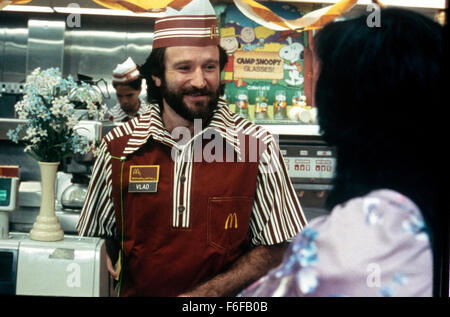 Sep 17, 1984; Hollywood, CA, UK; ROBIN WILLIAMS stars as Vladimir Ivanoff in the comedy drama 'Moscow on the hudson' - Stock Photo